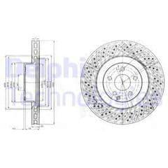 Brake Discs Front 350x32mm