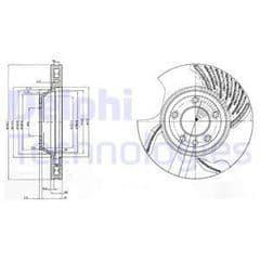 Brake Discs Front 350x34mm