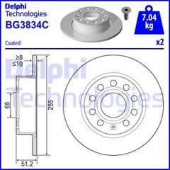 Brake Discs Rear 255x10mm
