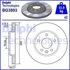 Brake Discs Rear 294x22mm