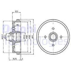 Brake Drum Rear 180mm Without ABS