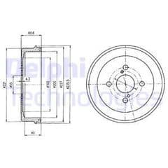 Brake Drum Rear 200mm Models With ABS