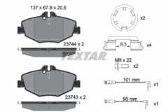 Brake Pads Front 295x28mm