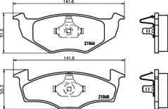 Brake Pads Front 239 x 19mm 96 onwards