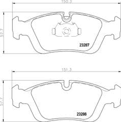 Brake Pads Front 286mm With Solid or Vented Discs