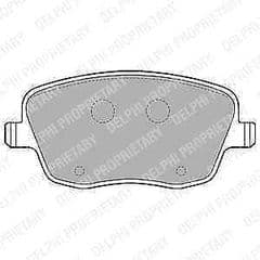 Brake Pads Front 288 x 25mm Without Wear Indicators