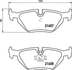 Brake Pads Rear 272x10mm With Solid Discs