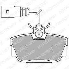 Brake Pads Rear 280x12mm PR 2E2 2000-2003