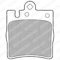 Brake Pads Rear 290x10mm with 1 pin caliper