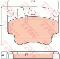 Brake Pads Rear 997 Carrera 4S Turbo & GT3