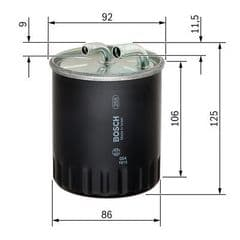 Fuel Filter 320CDi, 350CDi, 420CDi, 450CDi without water sensor connection