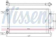 Radiator 1.4 16v, 1.4 FSI, 1.6 16v, 1.6 FSI & 2.0 FSI