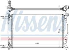 Radiator 1.6 2.0 1.9TDi 2.0TDi Manual Gearbox