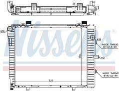 Radiator C200 Kompressor C230 Kompressor