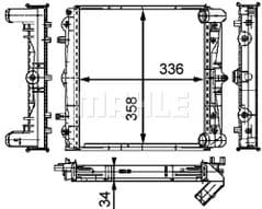 Radiator Left 996 Carrera2/4 3.4, GT3 & GT3RS