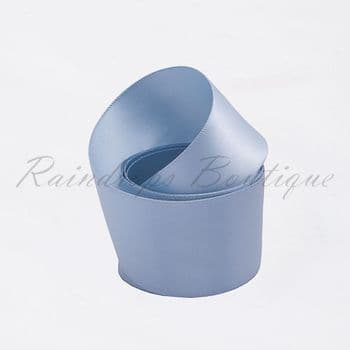 Blue Double Satin Ribbon by the Metre 38mm