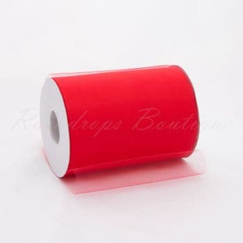 Coral Tulle Roll 100 yards