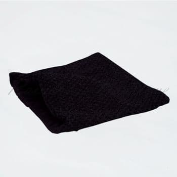 Lined Black Crochet Top 10 inches