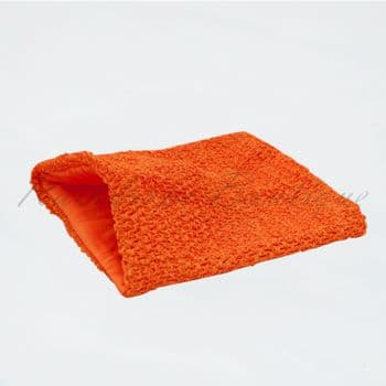 Lined Orange Crochet Top 12 inches