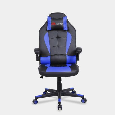 Office Chair with Flip-up Armrest Blue