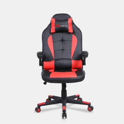 Office Chair with Flip-up Armrest Red