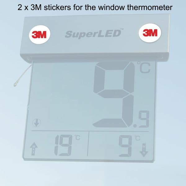 2x 3M sticky pads for window thermometer