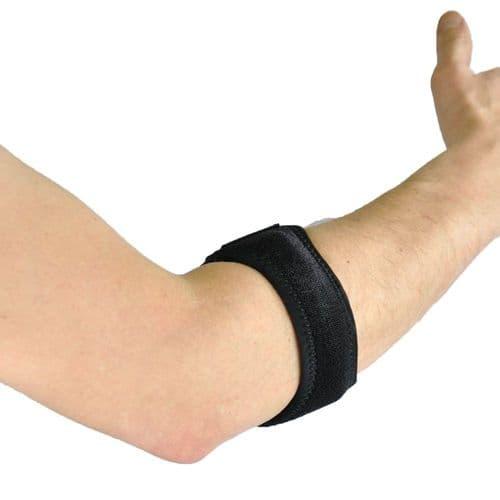 Neoprene Golf/Tennis Elbow Strap Breathable, One Size, Black