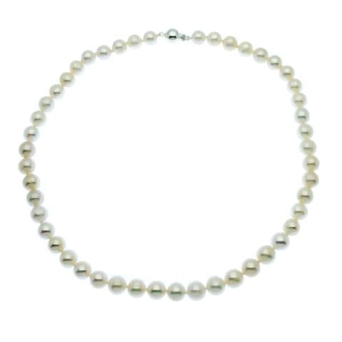 """Pearl Necklace 8mm Cultured Freshwater Pearls Sterling Silver 16 or 18"""""""