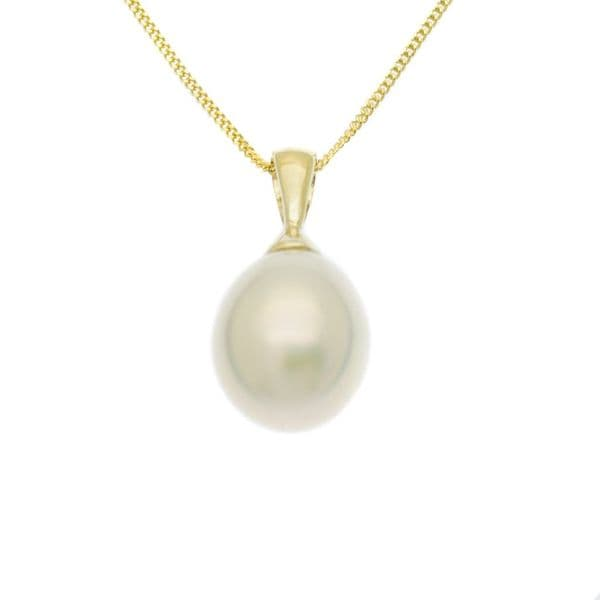 Pearl Pendant Necklace 9ct Gold 7mm Freshwater Drop Pearl