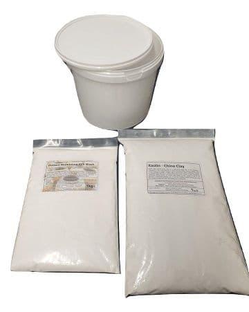 2kg Alumina Batt / Kiln wash with Kaolin (1:1) <BR>Inc Mix Tub for Ceramic Pottery