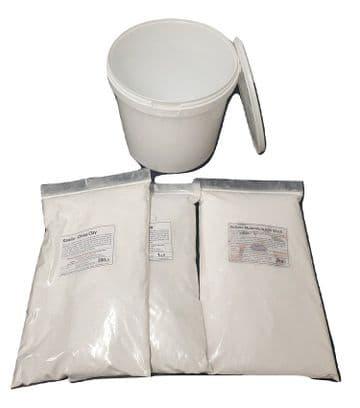 3.5kg Alumina Batt / Kiln wash & Kaolin (2:1.5) <br>Inc Mix Tub for Ceramic Pottery
