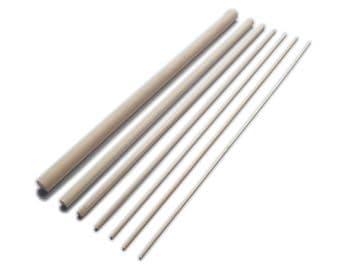 30cm Birch Hardwood Dowels <BR> Bulk Packs of 1000