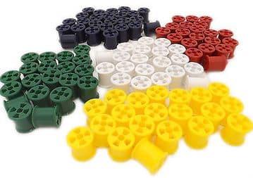 50 / 100 Plastic Coloured Cotton Reels