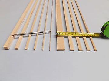 50 lengths of 300mm Balsa Wood