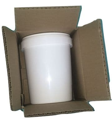 "6"" x 5"" x 5"" Extra Strong Double Wall Cardboard Box for 1 Litre Tubs 150x120x120mm"