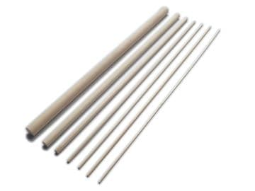 60cm Birch Hardwood Dowels <BR> Bulk Packs of 1000