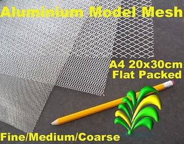A4 Sheets of Aluminium Modelling Mesh