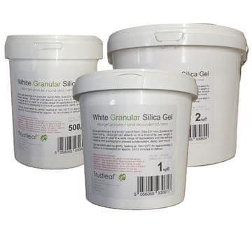 Granular Silica Gel Sand Desiccant <BR>0.5-1mm grains <br> 500g - 7kg Tubs