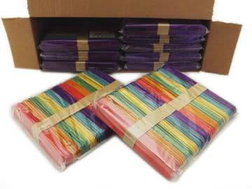 Jumbo Coloured Lolly Sticks